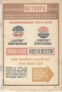 Prijscourant 1973