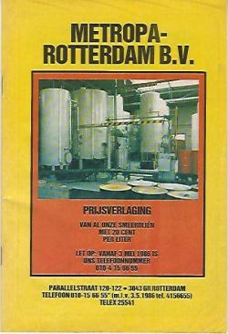 Prijscourant 1986